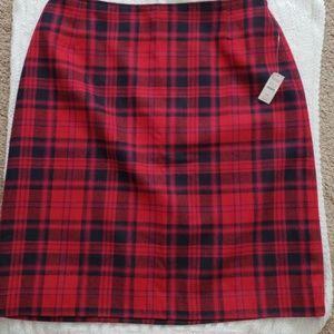 NWT Talbots lined plaid skirt